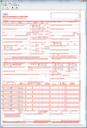 Insurance Claim Form  Fillable Pdf